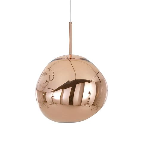 copper mini pendant light buy tom dixon melt copper pendant light amara