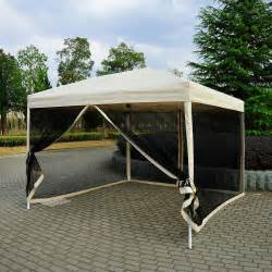 Canopy Tent 10 X 10 Pop Up Tent Mesh Screen Gazebo Popup Canopy
