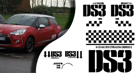 Racing Paradise Sticker by Stickers Citroen Ds3 Racing Complet