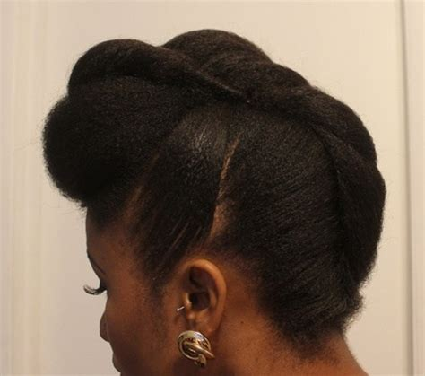 french roll bun w stuffing on fine natural hair easy 50 cute updos for natural hair