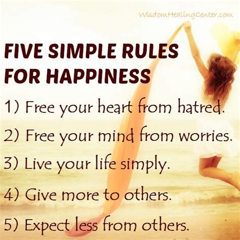 Select A Blind Five Simple Rules For Happiness Wisdom Healing Center
