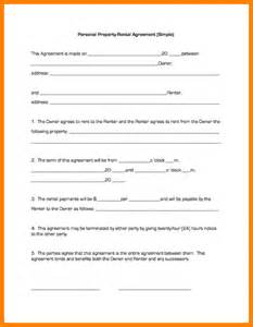 One Page Rental Agreement Template by 8 Simple One Page Lease Agreement Template Ledger Paper
