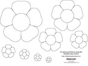 Free Flower Template Printable by Early Play Templates Flower Templates Free