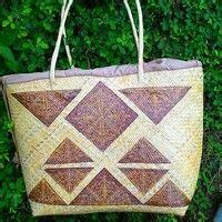 Tas Rotan Bakul tas anyaman rotan dengan motif khas dayak kalimanta kini
