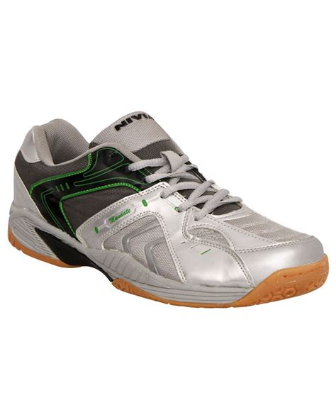 nivia sport shoes nivia mandate gray badminton sports shoes available at