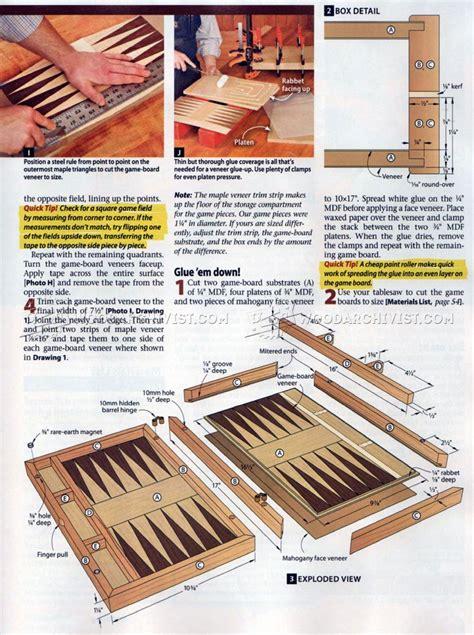 2071 Backgammon Board Plans Woodarchivist