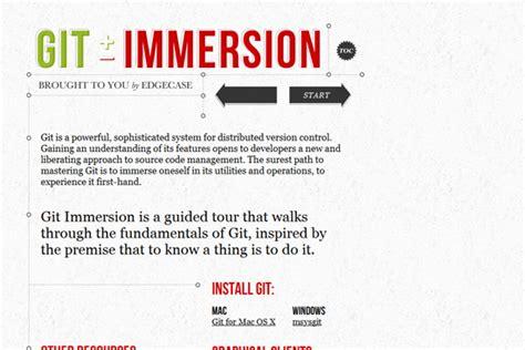 git tutorial immersion 10 个对初学者有用的 git 教程 haippy 博客园