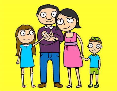imagenes sobre la familia en caricatura dibujo de mi familia pintado por demi190 en dibujos net el