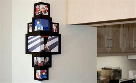 ausgefallene bilderrahmen für mehrere fotos um die ecke denken eck bilderrahmen