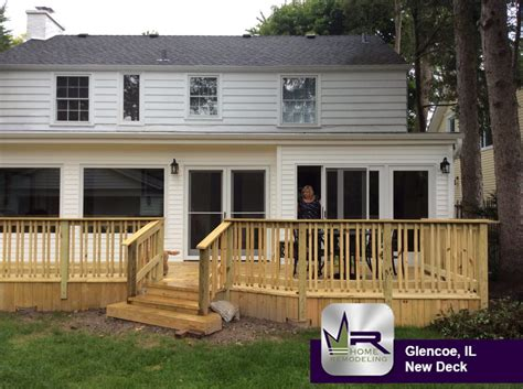 new deck in glencoe il regency home remodeling