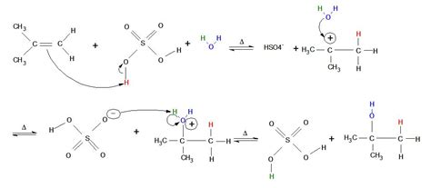 hydration reaction 8 4 hydration of alkenes addition of h 2 o by