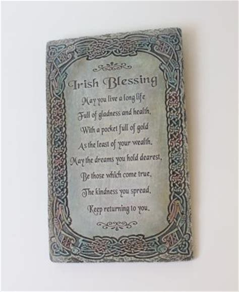 irish decor for home irish blessing wall plaque celtic home decor ebay