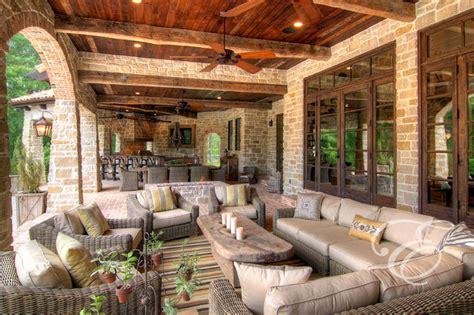 Farmhouse Patio Ideas by Tuscan Farmhouse Mediterranean Patio Houston By