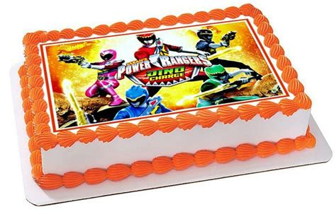 arun cakes pasteles 835 happy birthday power rangers dino charge 2 edible birthday cake topper or