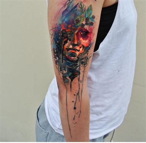 watercolor tattoo ondrash portrait watercolor by ondrash design of