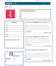 blank profile template 10 best images of blank profile worksheet
