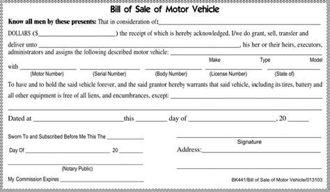 printable tennessee vehicle bill of sale download tennessee motor vehicle bill of sale form for