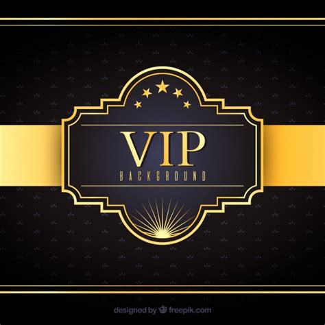 imagenes vip gratis fondo elegante de insignia vip dorada descargar vectores