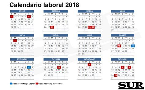 Calendario 2018 Laboral España Calendario Laboral De 2018 Diario Sur