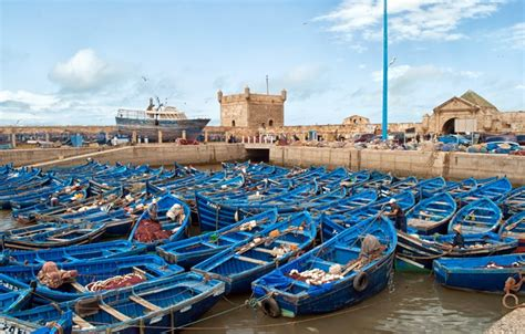 boat trip essaouira fishing boats in essaouira harbour in pictures on the