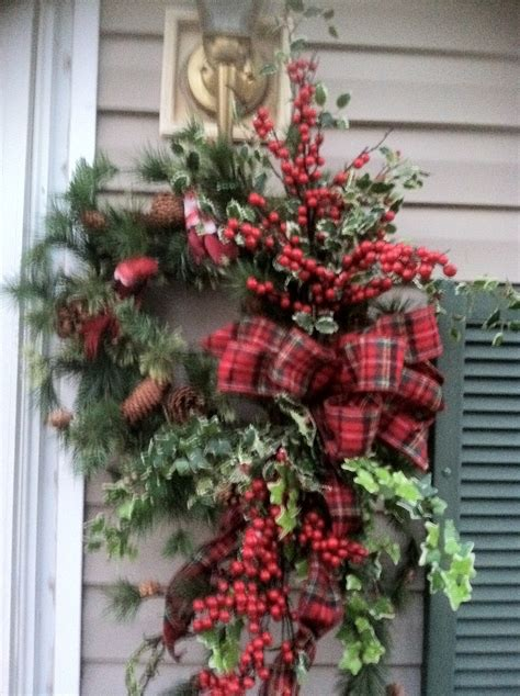 my front door christmas wreath work winter pinterest