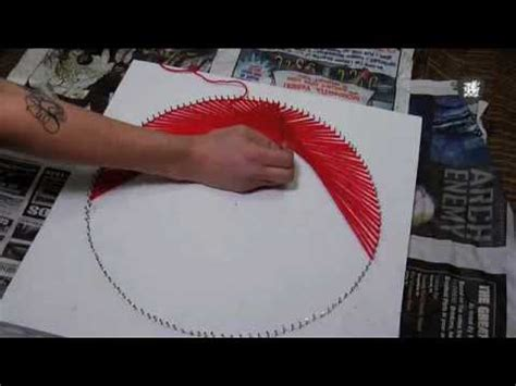 String And Nail Tutorial - 70 s string tutorial decor it yourself