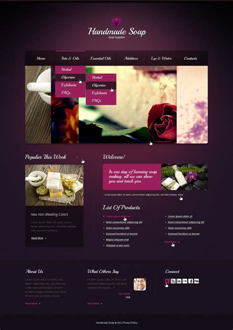 And Craft Website Templates Crafts Website Template 40102