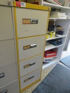 Namco Filing Cabinet Handles Filing Cabinet Namco 4 Draw Recessed Handles Beige Mustard Steel Cons Auction 0042
