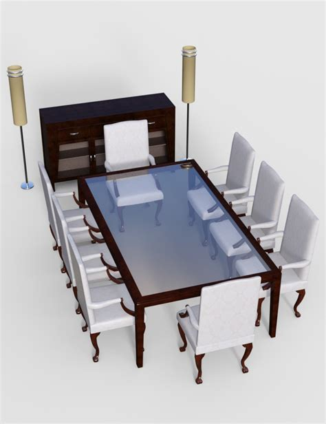 Furniture S by Furniture Set 5 Dining Furnitures 3d Models And