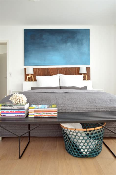 wohnung umstylen umstyling im schlafzimmer diy wandbild und