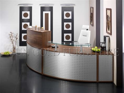 reception desk prices modern popular curved half office reception desk