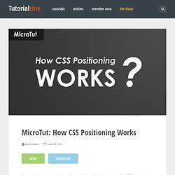 tutorial on css positioning css pearltrees