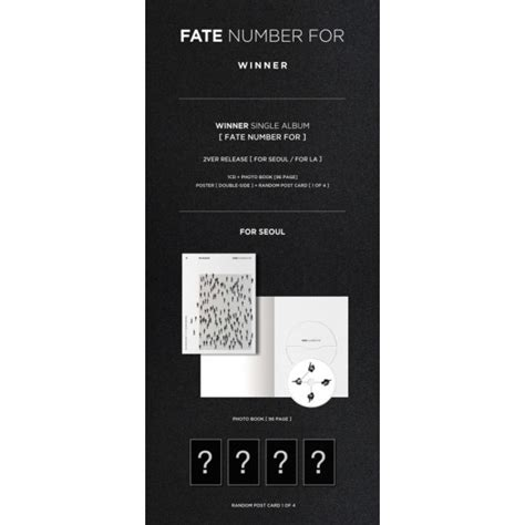 Winner Fate Number For Album Unsealed winner fate number for for seoul ver for la ver gasoo kpop galore