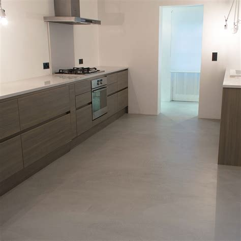 concrete kitchen flooring microcement kitchen floor poured resin and concrete flooring
