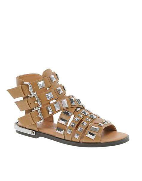 sandals tanning lyst river island parch gladiator heavy studded