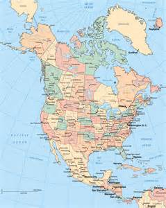 america on a map maps of america and american countries