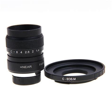 fujian 25mm f 1 4 c mount cctv f1 4 lens for canon mirrorless eos m m2 m3 ebay