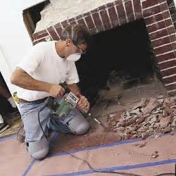 remove hearth how to reface a fireplace surround and