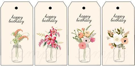 printable gift tags for birthday floral printable birthday gift tags live laugh rowe