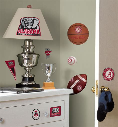 alabama football home decor roommates university of alabama peel stick wall decals