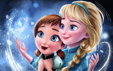 wallpaper of frozen 2 frozen elsa anna digital fan art wallpapers