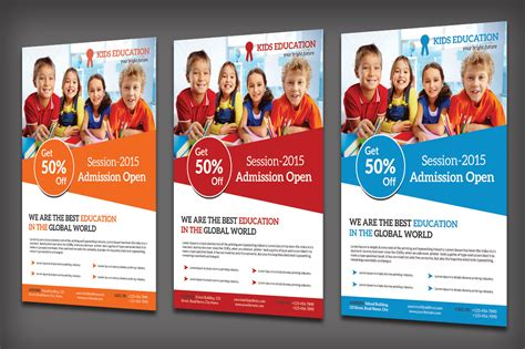 school flyers templates free school education flyer flyer templates on creative market