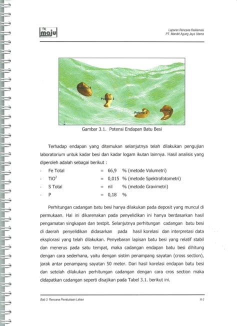 contoh laporan gravimetri contoh rencana reklamasi