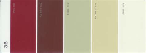 martha stewart paint 5 color palette card 36