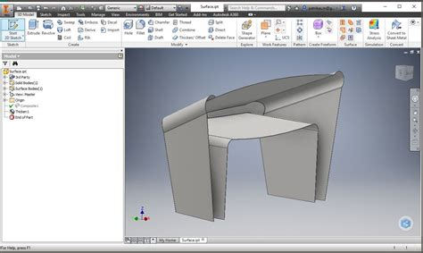 boat hull in fusion 360 autodesk inventor 2016 converting surfaces to solids
