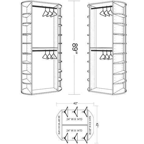 closet organizer dimensions 360 organizer 174 fs hang by lazy