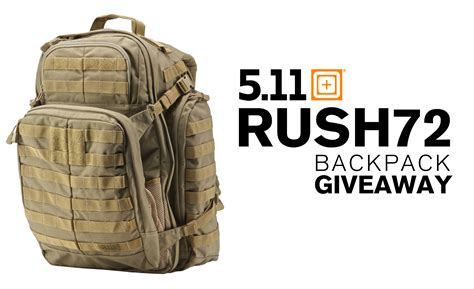 Tactical Gear Giveaway - giveaway 5 11 tactical rush72 backpack more recoil offgrid