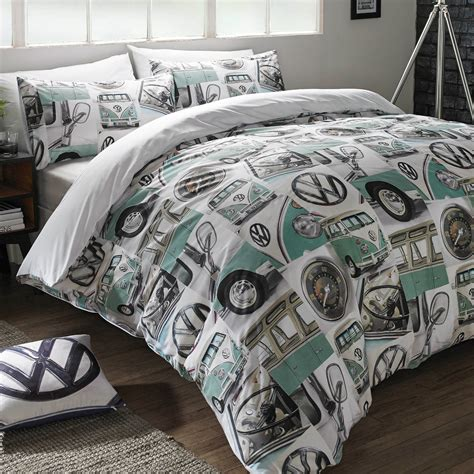 golf bedding volkswagen classic details single duvet cover set vw retro