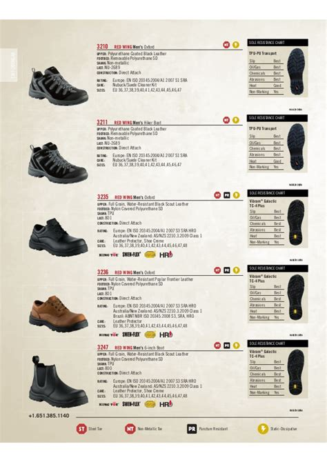 shoe size chart red wing red wing shoes footwear en catalog 2012