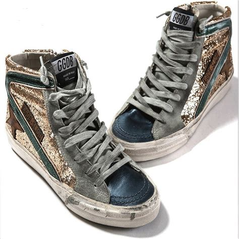 italian high top sneakers original italy golden goose casual shoes gold genuine